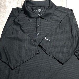 Nike golf black men's polo size XL